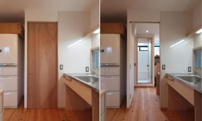 "DIYを愉しむワークスペースのある戸建てリフォーム (水回りは""廻れる動線""を計画)"
