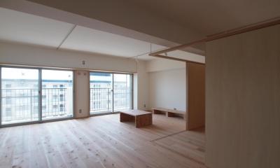 子育てファミリーが暮らす断熱改修マンションリノベーション (内窓を新設して、住戸の温熱環境を改善)