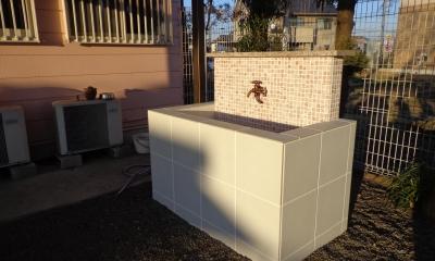 庭のオアシス (お庭の手洗い場)