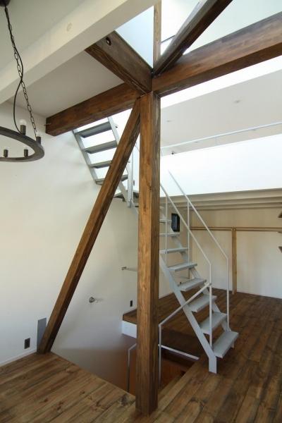 塔屋階段1 (アトリエのある家)