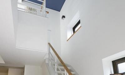 ペレットストーブのある家 (階段)