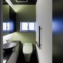 客間の傍に設けた1階トイレ