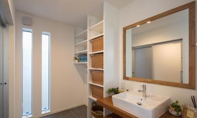 洗面脱衣室|子供たちの元気な声が響く のびのび成長できる家
