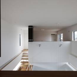 那須の家 (寝室と吹抜け)
