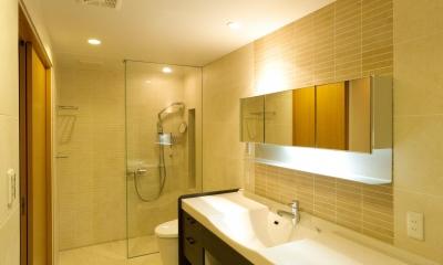 洗面化粧室|和風旅館を思わせる家