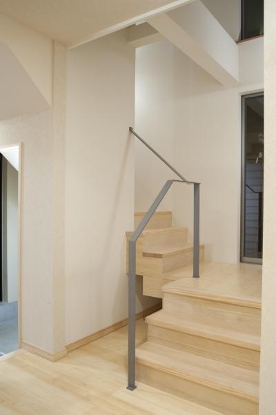 階段 (和風旅館を思わせる家)