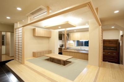 和室 (和風旅館を思わせる家)
