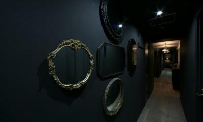 廊下ギャラリー|ロンドンのアパートメント@世田谷