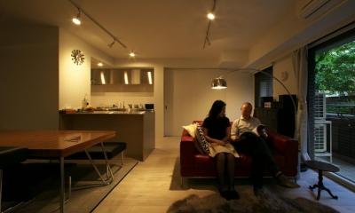 リビングもロンドン風|ロンドンのアパートメント@世田谷