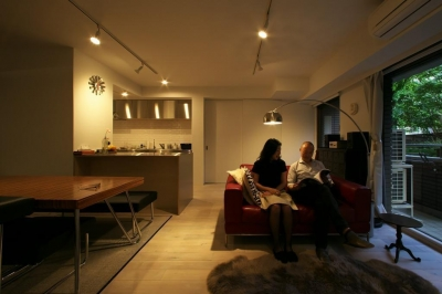 ロンドンのアパートメント@世田谷 (リビングもロンドン風)