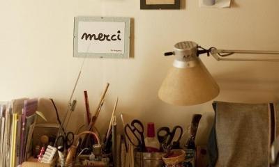デスク〜家事室〜|手づくりの家具で、自分流