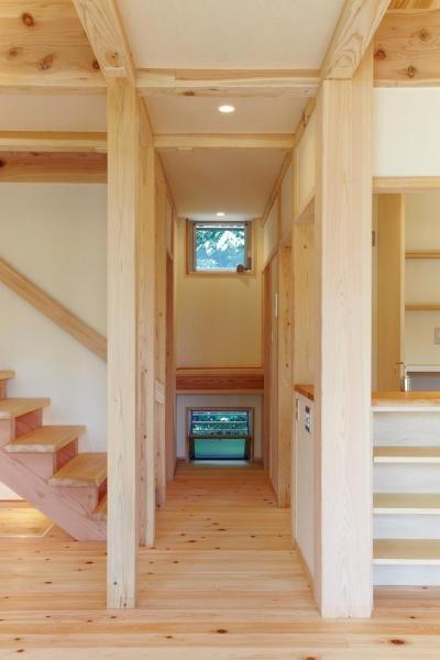さくら 〜薪ストーブのある木の家〜 (廊下(リビングダイニング))