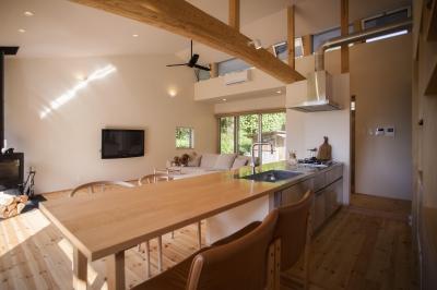 双海町の家 (リビング キッチン)