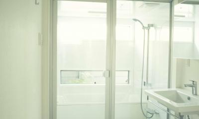 フォーインワン(ランドリー、トイレ、洗面、バス)は使い易い|世田谷区 桜 NAVY HOUSE 1