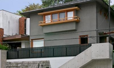 高台に建つ家|高台に建つ和モダン住宅