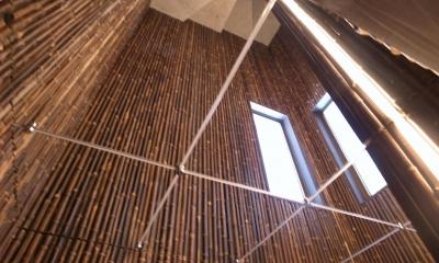 天井(鏡貼)|古民家再生の家