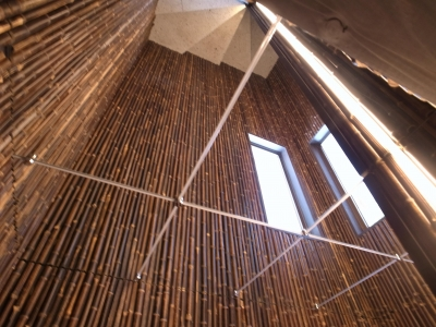 天井(鏡貼) (古民家再生の家)