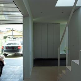永福町の家 (玄関・ガレージを見る)