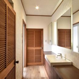 シンプルな洗面室