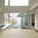 原 宏の住宅事例「春江町の家(中庭のある二世帯住宅)」
