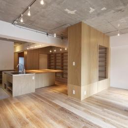 猿江の住宅 (リビングダイニングキッチン)