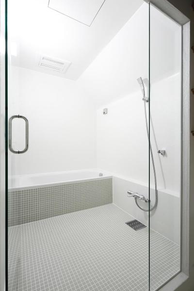 猿江の住宅 (タイルが印象的なバスルーム)