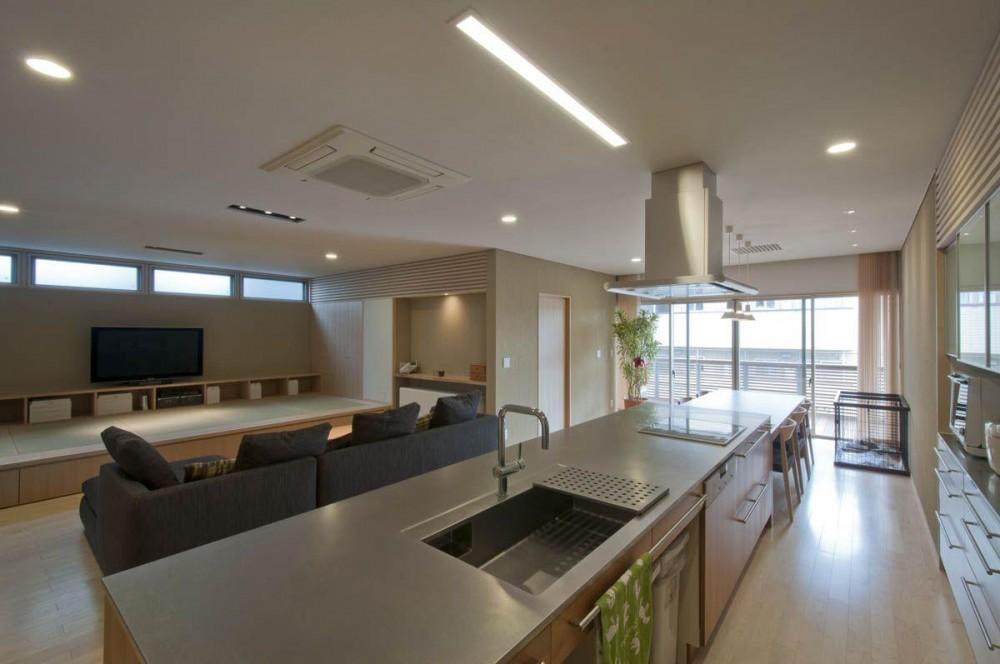 神田の家|自動車修理工場 併用 住宅 (キッチン)