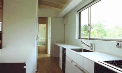 塩原の週末の家 (大きな窓から景色を眺められるキッチン)