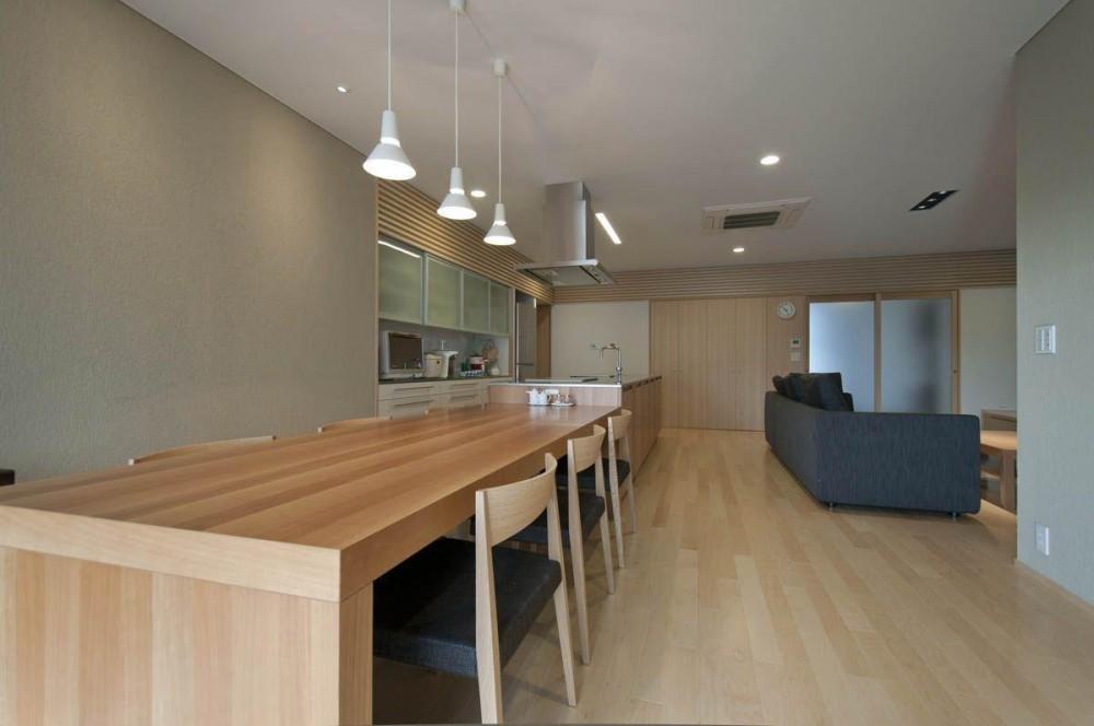 神田の家|自動車修理工場 併用 住宅 (ダイニング)
