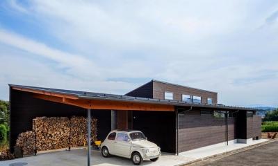 緩斜面の家 [2013] (駐車場)