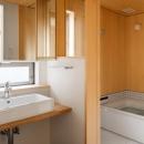 トンガリの家 [2014]の写真 シンプルな洗面室・バスルーム