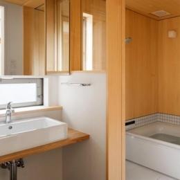 トンガリの家 [2014] (シンプルな洗面室・バスルーム)