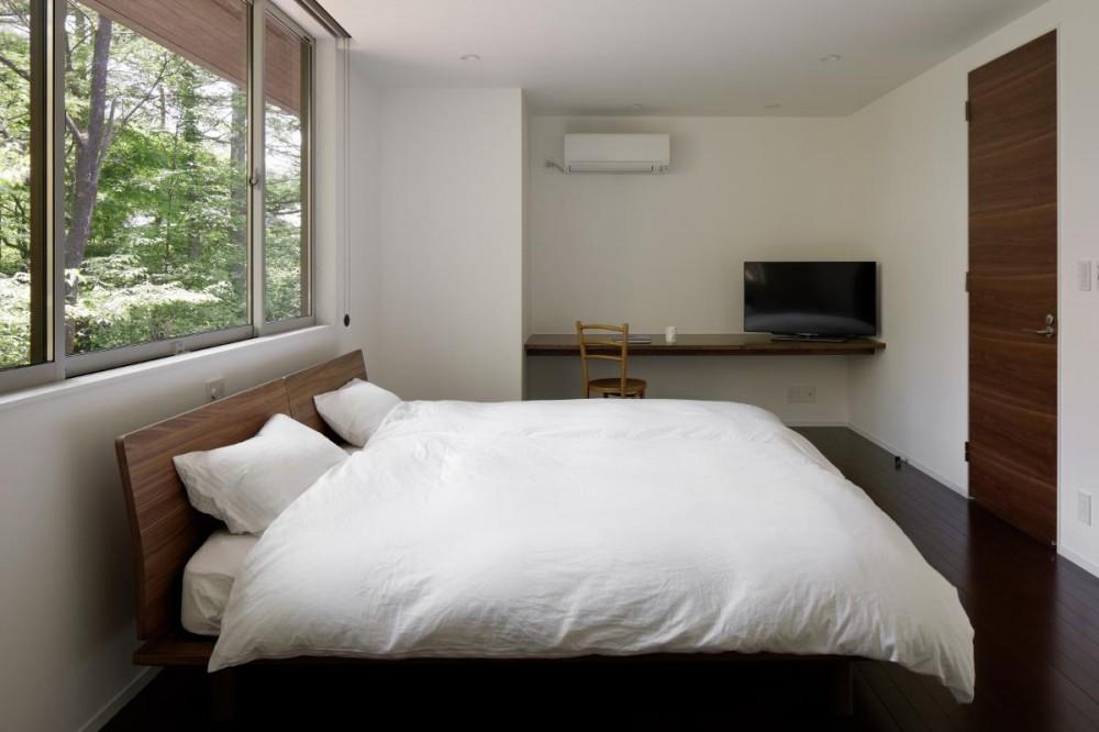 046軽井沢Hさんの家 (寝室)