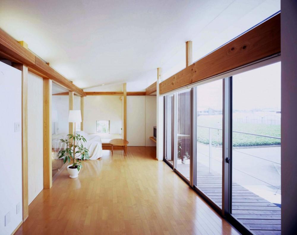 西中島の家 (見晴らしの良いリビング)
