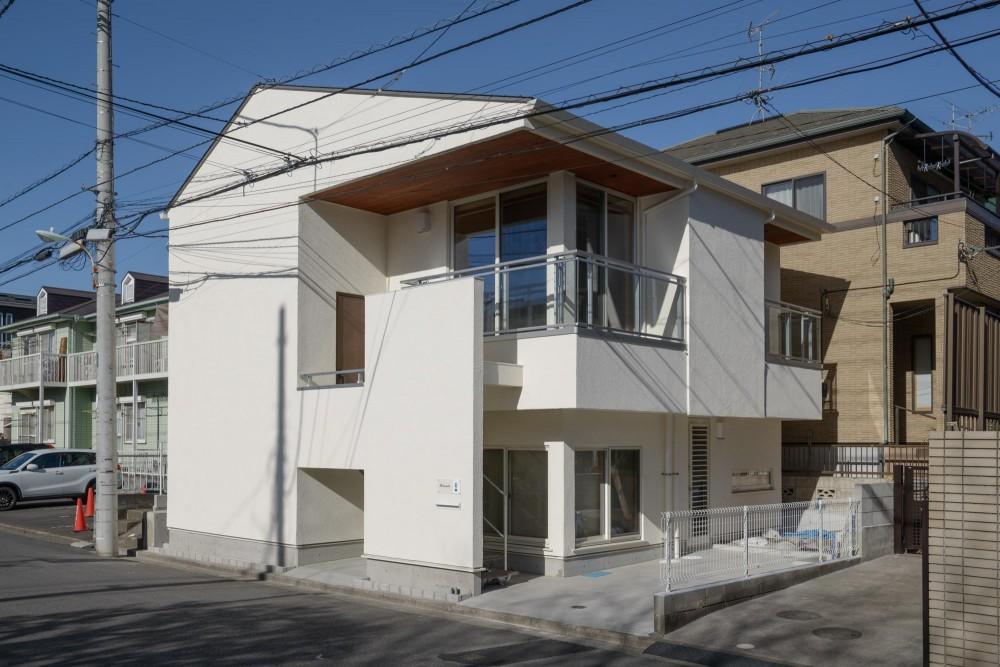 大谷口の省エネ高性能住宅/MATさんのスキップフロアー住宅 (南側正面)