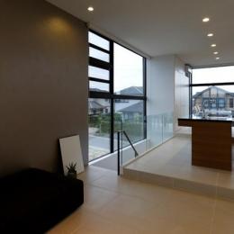 開放的な2階リビング (鳴海の家)