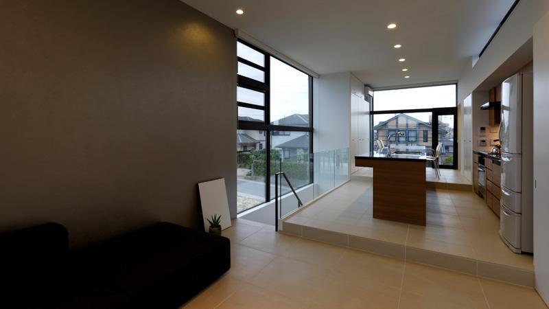 鳴海の家の写真 開放的な2階リビング