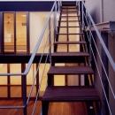 屋上テラスへの階段