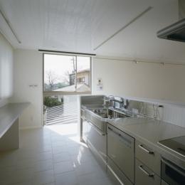 大林の家 (ステンレス仕上のオープンキッチン)