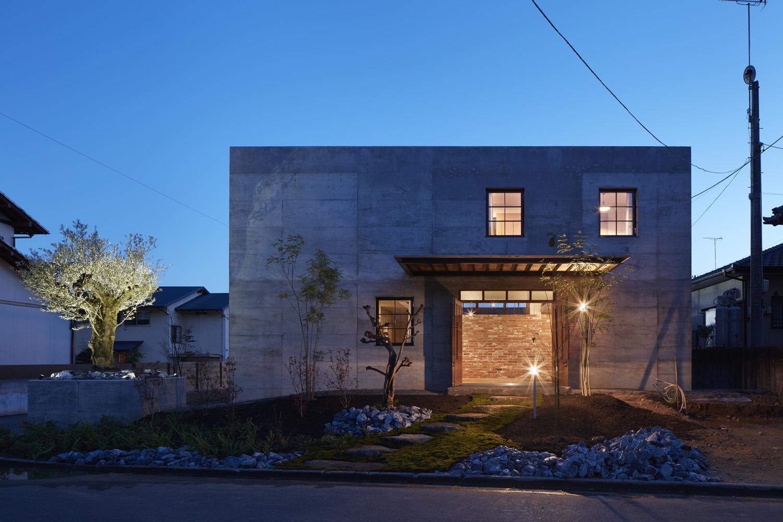 森町の家の写真 外観-ライトアップ