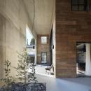 森町の家 / インダストリアルデザインと自然を取り込むコンクリートハウスの写真 外部との間に設けた屋根付きのテラス