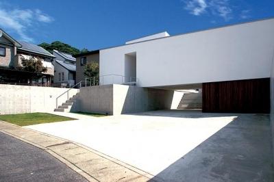 群馬県太田市 House OG -風の抜ける中庭- (高さを抑えた平屋)