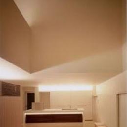 南春日丘の家 (キッチン-ライトアップ)