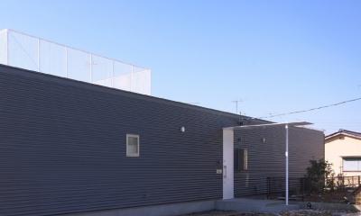 平屋建ての外観|水庭の家