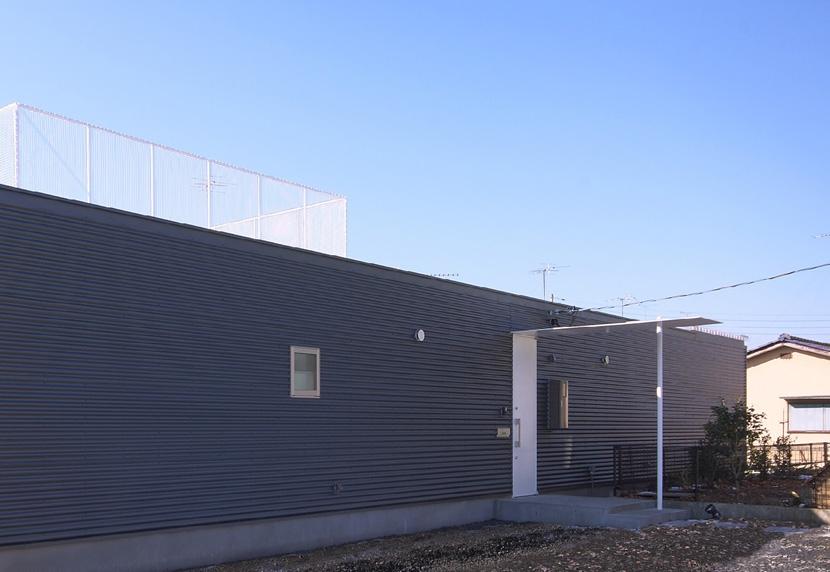 水庭の家の部屋 平屋建ての外観