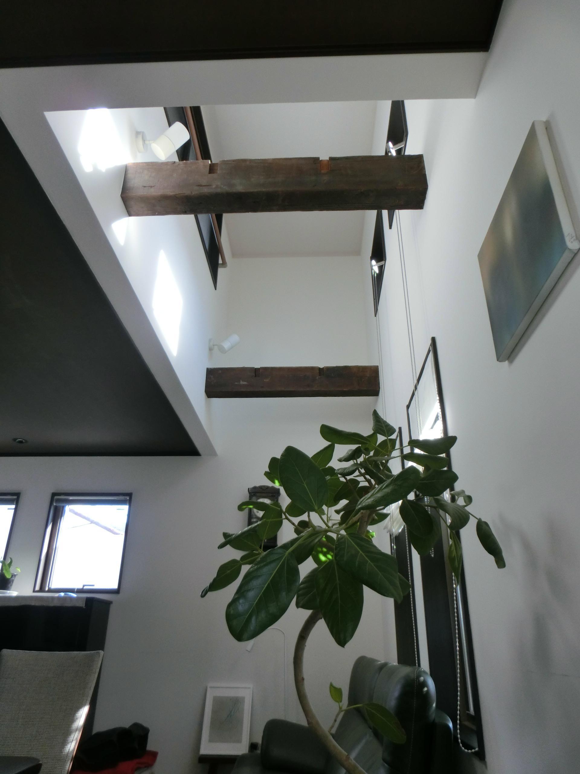 『手わざのコダワリ』と新しい建築技術の融合:東京都杉並区K様邸の写真 2階吹き抜け