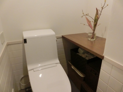 『手わざのコダワリ』と新しい建築技術の融合:東京都杉並区K様邸 (トイレ)