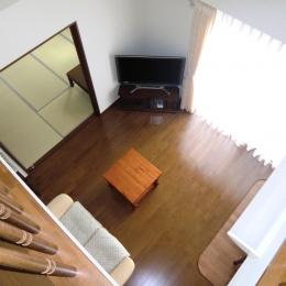 オール電化住宅:千葉県市川市S様邸 (2階からの吹き抜け)