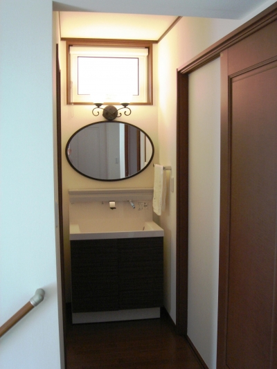 オール電化住宅:千葉県市川市S様邸 (洗面室)
