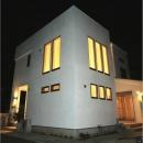 オール電化住宅:東京都国分寺市Y様邸の写真 外観-ライトアップ